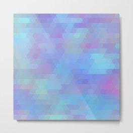 Color Vibe abstract geometric Metal Print
