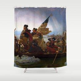 Washington Crossing the Delaware by Emanuel Leutze (1851) Shower Curtain