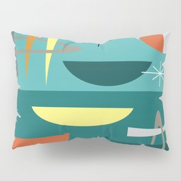 Turquoise Mid Century Modern Pillow Sham