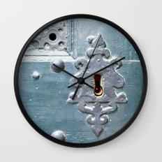 Old lock Wall Clock