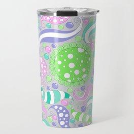 Candy Store Pattern Print Travel Mug
