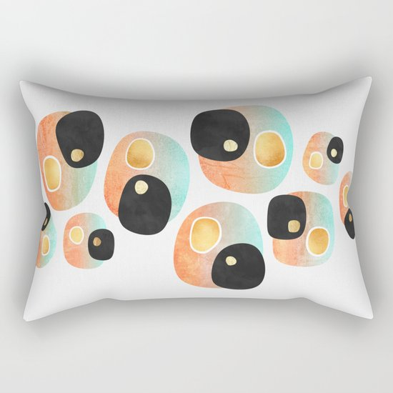 Tropical Pebbles Rectangular Pillow