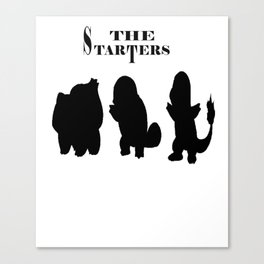 The Starters Funny Gamer [Poke mon] Canvas Print