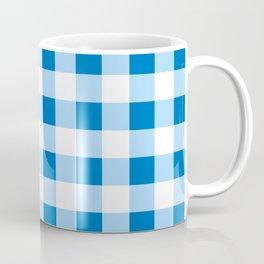 Blue and White Buffalo Check Coffee Mug