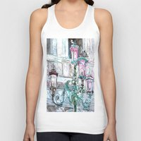 lights Tank Tops featuring lights by Oksana Ivanenko