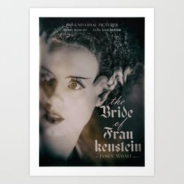 The Bride of Frankenstein, vintage movie poster, Boris Karloff cult horror Art Print