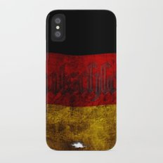 German Flag - Vintage... Slim Case iPhone X