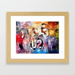 U 2 Painted Framed Art Print