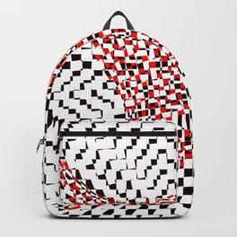 black white red 2 Backpack
