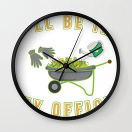Gardener landscaping gardening office gift Wall Clock