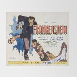Vintage poster - Frankenstein Throw Blanket