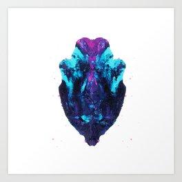 Heart flutters Art Print
