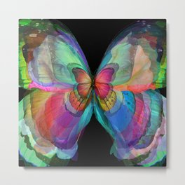 REINCARNATION - BEAUTIFUL BUTTERFLY WINGS CREATE A NATURAL TRANSFORMATION Metal Print