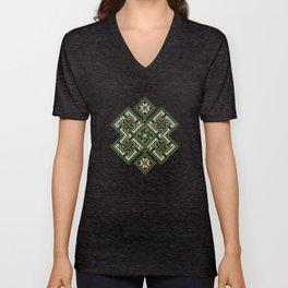 solar stamp / rhythm life. Divinely psychedelic ornament Unisex V-Neck