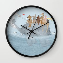 to the ocean Wall Clock