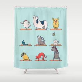 Vegan Yoga Shower Curtain
