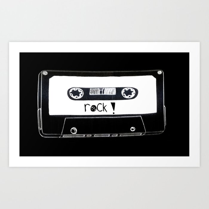 Rock your world! Art Print