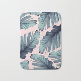 Blush Banana Leaves Dream #9 #tropical #decor #art #society6 Bath Mat