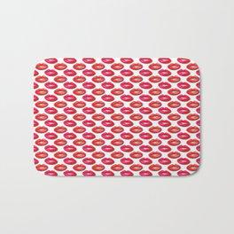 Lipstick Red and Pink Pattern Bath Mat