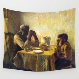 African American Masterpiece 'The Thankful Poor' by Henry Ossawa Tanner Wall Tapestry