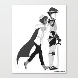 Prince Mutsuki & Knight Urie Canvas Print