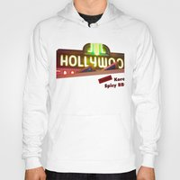 hollywood Hoodies featuring Hollywood Neon by Umbrella Design