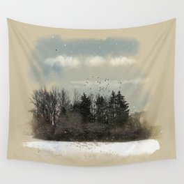 Winter, snow, frosty day. Wall Tapestry