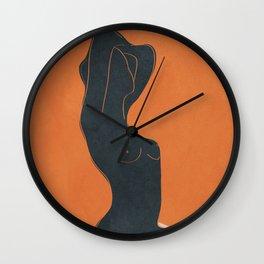 Abstract Nude IV Wall Clock