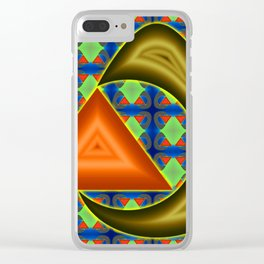 Absorbing triangle ... Clear iPhone Case