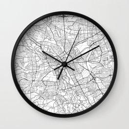 Hanover Map White Wall Clock