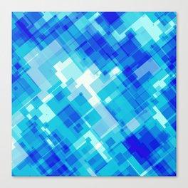 Digital Blue Pool Canvas Print