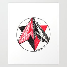 Vitruvian Insect 1 Art Print