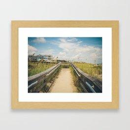 Beach Boardwalk Framed Art Print