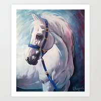 horse Art Prints featuring Horse by Slaveika Aladjova