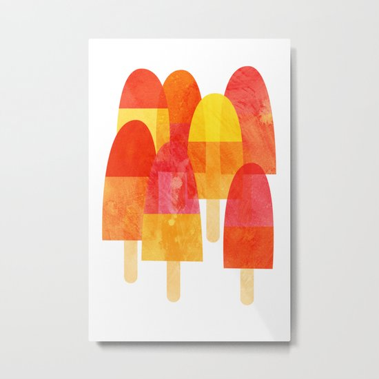 Ice Lollies Metal Print
