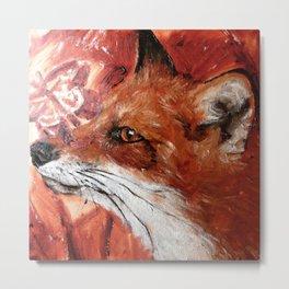 Fox Work in Progress Metal Print
