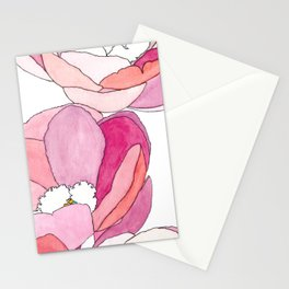Climbing Peonies Stationery Cards