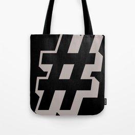 Big Hashtag Tote Bag
