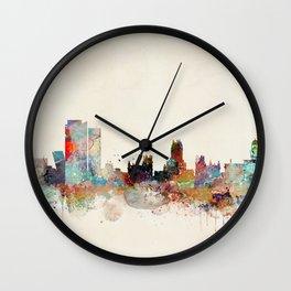 madrid spain skyline Wall Clock