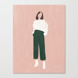 Pink + Green Canvas Print