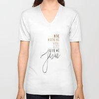 jesus V-neck T-shirts featuring Jesus by I Love Decor