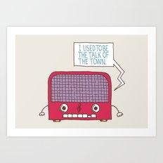 Radio Static Art Print