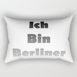 Ich Bin Berliner I am Berlin - Black Fade Rectangular Pillow