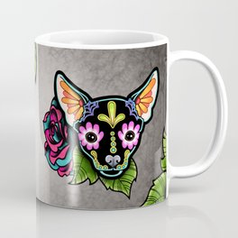 Chihuahua in Black - Day of the Dead Sugar Skull Dog Coffee Mug