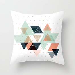 Midcentury geometric abstract nr 011 Throw Pillow