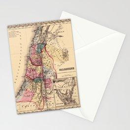 Map Of Palestine 1856 Stationery Cards