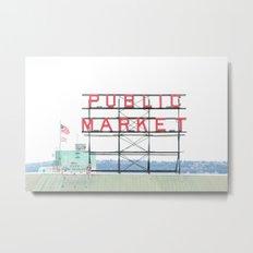 Seattle's Public Market Metal Print