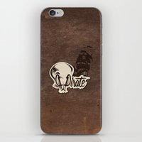 pirate iPhone & iPod Skins featuring Pirate by Tony Vazquez
