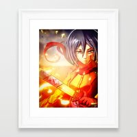 mikasa Framed Art Prints featuring Mikasa by R-no71