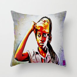 A LAMB IN WOLF'S CLOTHING Throw Pillow